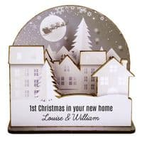 Personalised Make Your Own Town 3D Decoration Kit  ideal gift for 1st Christmas in a new home, family